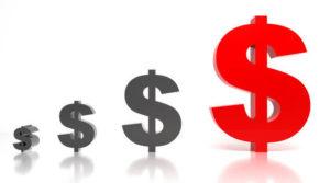 Increasing dollar signs